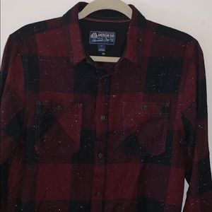 Men's American rag button down flannel plaid